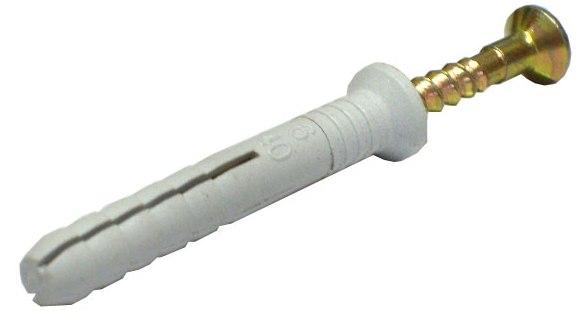 Дюбель-гвоздь D 6мм, L 80 мм (коробка 100 шт)