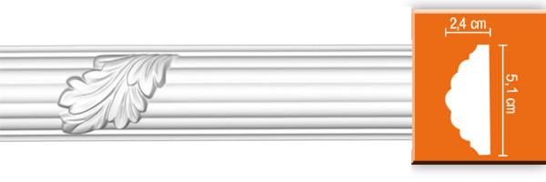 Молдинг с орнаментом Decomaster 98020 (размер 51х24х2400)