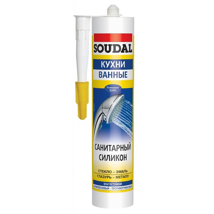Герметик силиконовый Soudal санитарный 300 мл