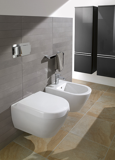 Биде подвесное Villeroy and Boch Subway 7400 00R1 alpin