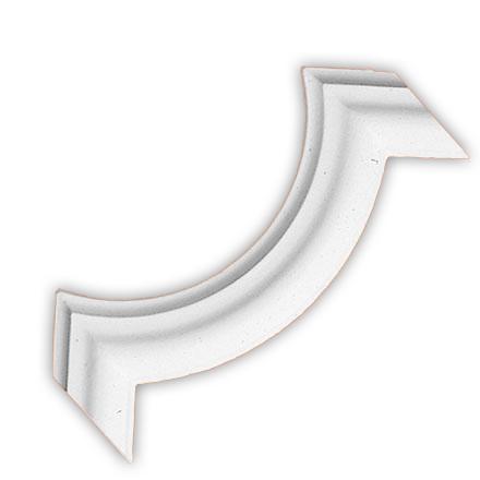 Угол декоративный Decomaster DP 304 A (размер 200х200х20)
