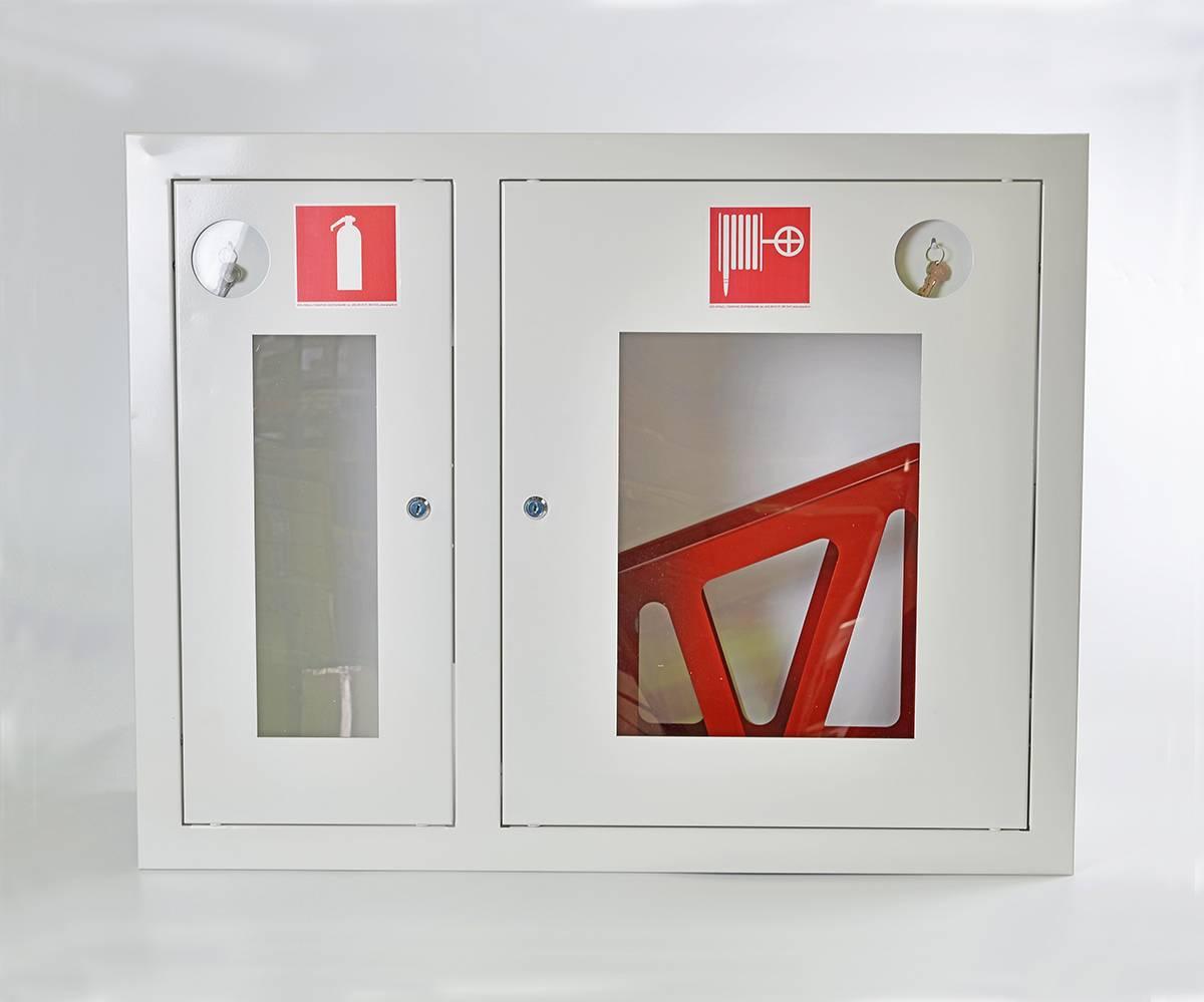 Шкаф пожарный ШПК-315ВОБ встраиваемый открытый белый