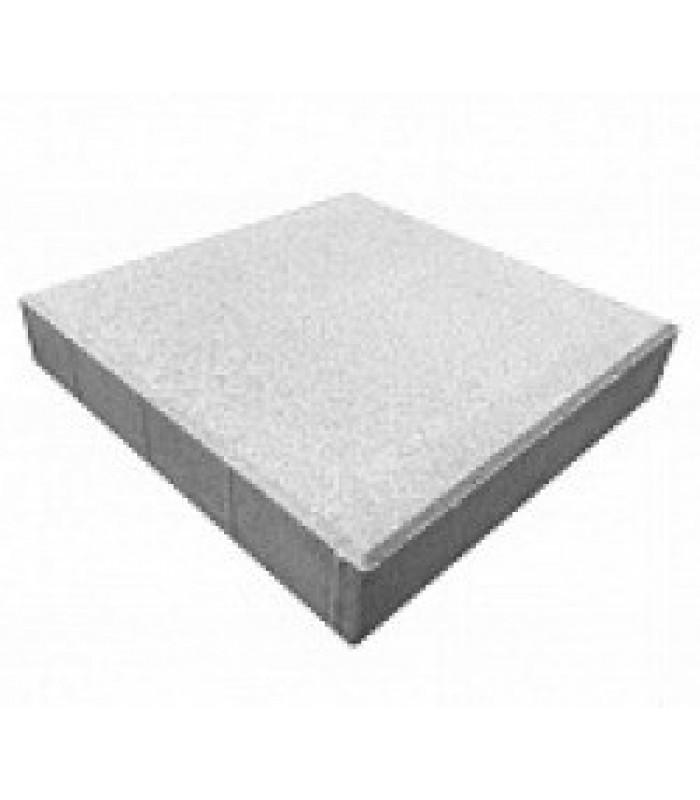 Тротуарная плитка Квадрат белый 400x400x60мм