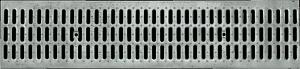 Решетка стальная щелевая DN100, 1м (на лоток водоотводный)