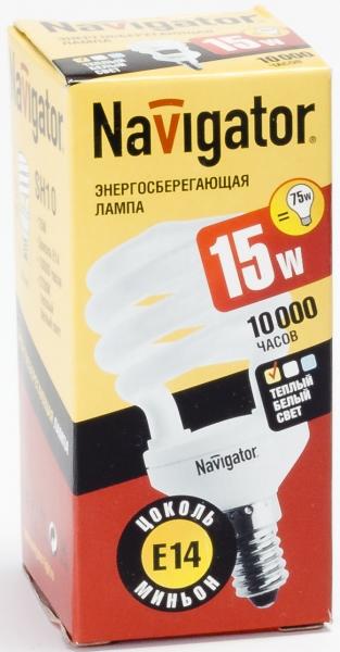 Лампа э/сб Navigator NСL-SH10-15-827-E14 теплый (15Вт)
