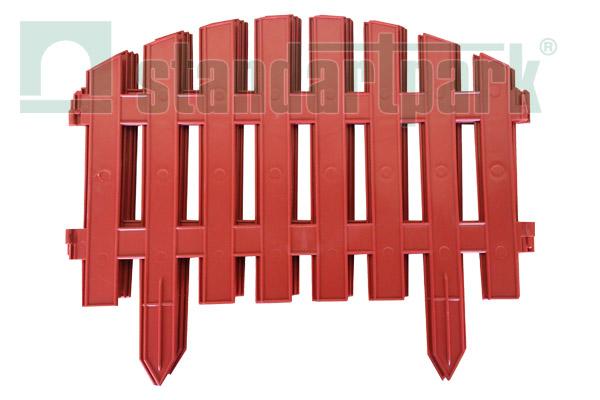 Забор декоративный №1 ЗД-3000.280-ПП пластиковый  терракотовый 8301-Т