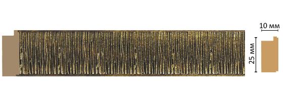 Багет Decomaster 102-28 (размер 25х10х2400)