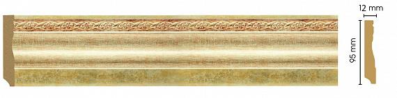Плинтус напольный Decomaster 153-933 (размер 95х12х2400)