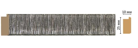 Багет Decomaster 102-29 (размер 25х10х2400)