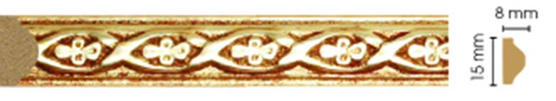 Цветной молдинг Decomaster 130A-391 (15х8х2400)