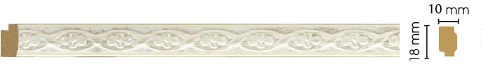 Молдинг Decomaster 158-937 (размер 18х10х2400)