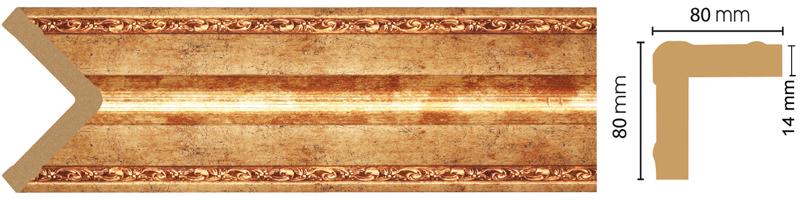 Уголок Decomaster 140-552 (размер 80х80х2400)