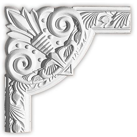 Угол декоративный Decomaster 98102-1  (к молдингу 98102)