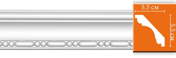 Плинтус с орнаментом Decomaster 95628 (размер 55х55х2400)