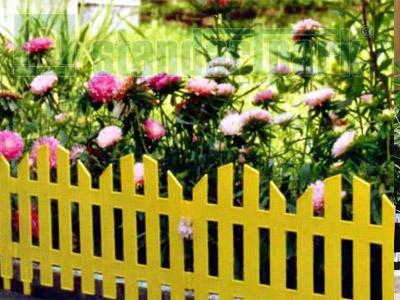 Забор декоративный №4 ЗД-3000.280-ПП пластиковый  желтый 8304-Ж