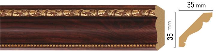 Потолочный плинтус (карниз) Decomaster 155S-1084 (размер 35х35х2400)