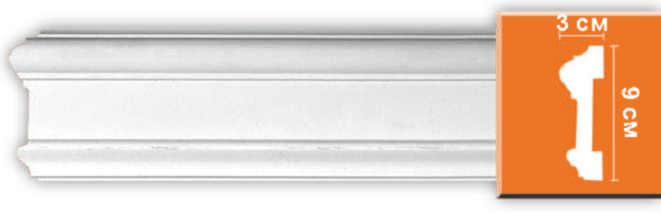 Молдинг гладкий Decomaster 97901 гибкий (размер 90х30х2400)