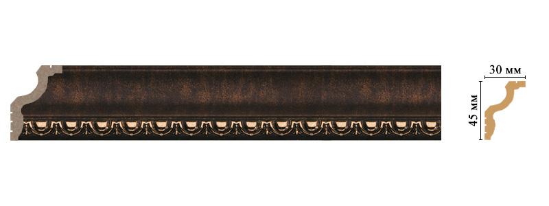 Цветной карниз Decomaster 148D-56 (размер 45х30х2400)