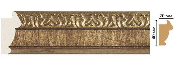 Багет Decomaster 807-3 (размер 40х20х2900)