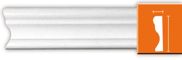 Молдинг гладкий Decomaster 97124 гибкий  (размер 33х15х2400)