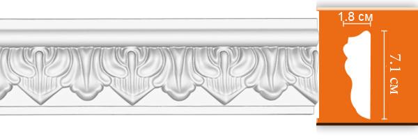 Молдинг с орнаментом Decomaster 98704 гибкий (размер 71х18х2400)
