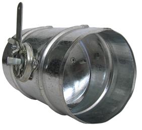 Дроссельный клапан с ручным приводом, диам. 200