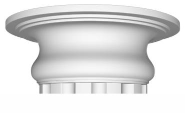 Капитель Decomaster 90024-3 (размер O 380х130)