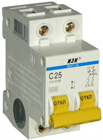 Автомат ИЭК ВА47-29, 2П/6А (2-полюсной)  цены