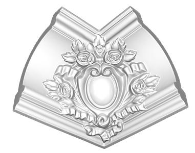 Угол декоративный Decomaster DP 217 R (размер 145х200х200)