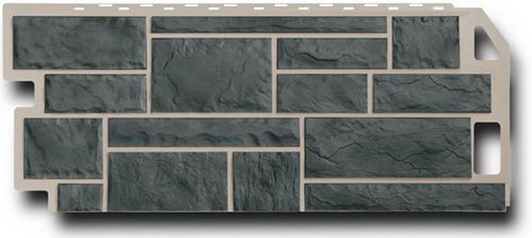 Цокольный сайдинг FineBer камень серо-зеленый, упаковка 5,34м2