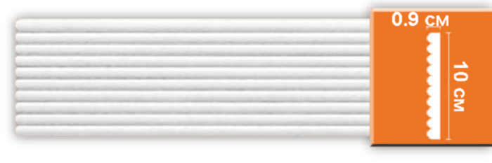 Молдинг гладкий Decomaster DI 111 (размер 100х9х2400)