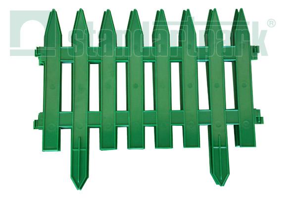 Забор декоративный №1 ЗД-3000.280-ПП пластиковый  зеленый 8301-З