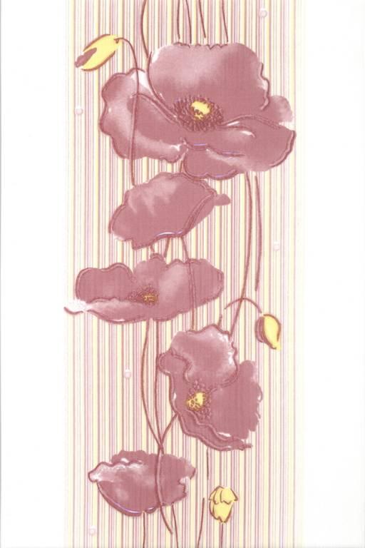 Декор Альба Маки лиловый 20х30