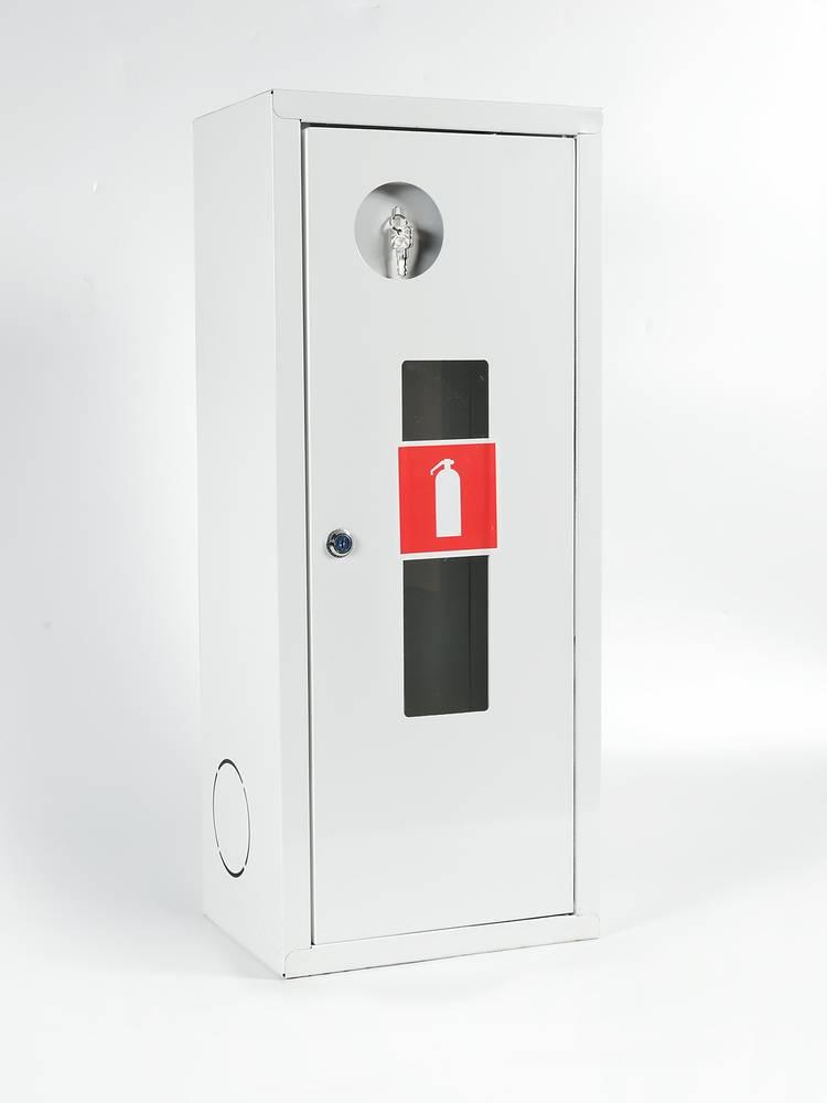Шкаф для огнетушителя ШПО-103НОБ навесной открытый белый