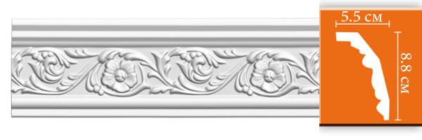 Плинтус с орнаментом Decomaster  95323 (размер 88х55х2400)