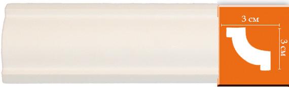 Плинтус гладкий Decomaster 96123 (размер 30х30х2400)