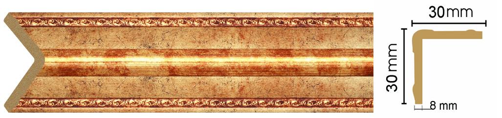 Уголок Decomaster 116-552 (размер 30х30х2400)