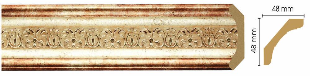 Потолочный плинтус (карниз) Decomaster 167-127 (размер 48х48х2400)