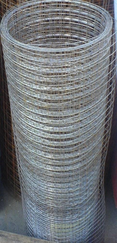 Оцинкованная сварная сетка, яч.12.5х12.5мм, рулон 1х15м, диам 0.9