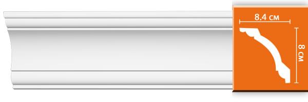 Плинтус гладкий Decomaster 96620 (размер 84x80x2400)
