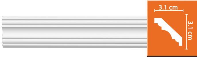 Плинтус гладкий Decomaster 96681 (размер 31x31x2400)