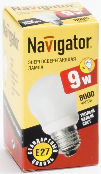 Лампа э/сб Navigator NСL-G45-09-827  теплый (9Вт)