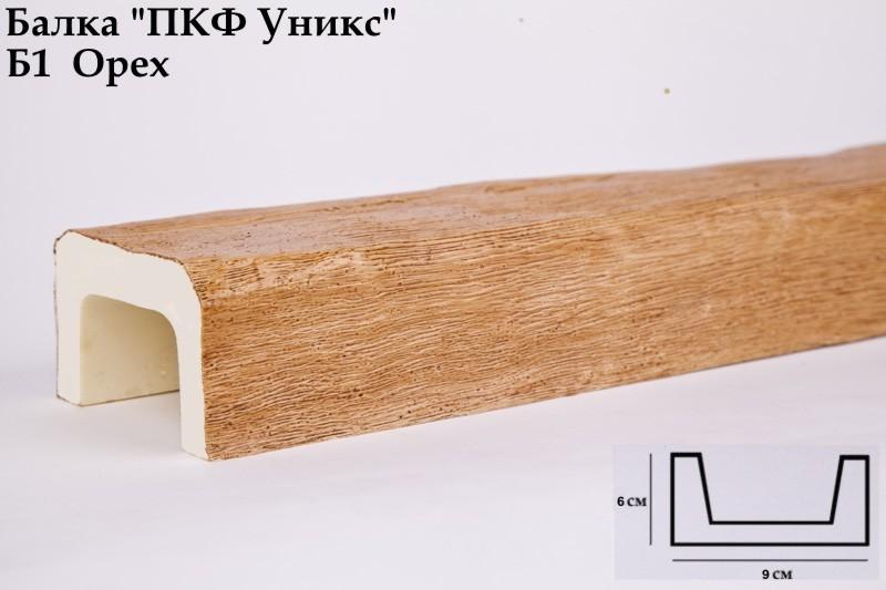 Декоративная балка Уникс (Орех) 60х90х3000