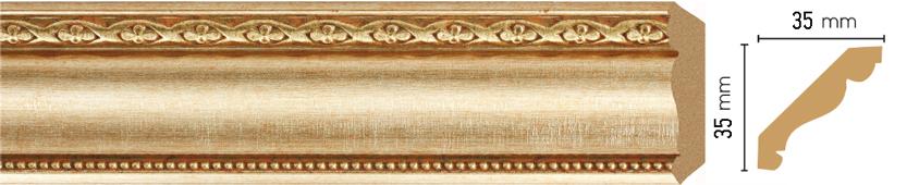 Потолочный плинтус (карниз) Decomaster 155S-933 (размер 35х35х2400)