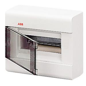 Бокс ABB настенный 8м с прозрачной дв. белый 2458