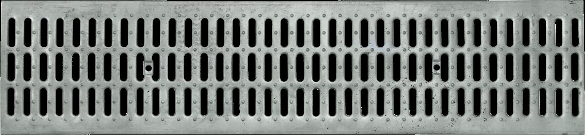 Решетка стальная штампованая DN200, 1м (на лоток водоотводный)