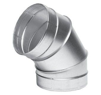 Отвод 60гр диам.125 (воздуховод оцинкованный)