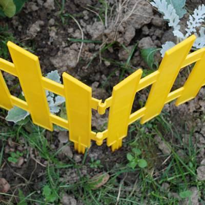 Забор декоративный №2 ЗД-3000.280-ПП пластиковый  желтый 8302-Ж
