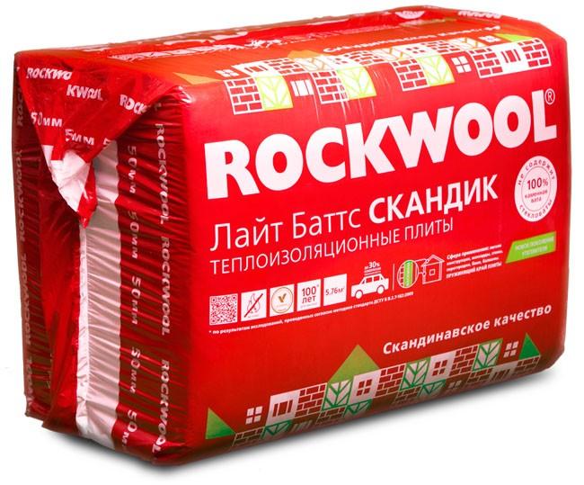 Роквул Скандик Лайт Баттс 5,76м2 (0.288м3) толщ.50мм