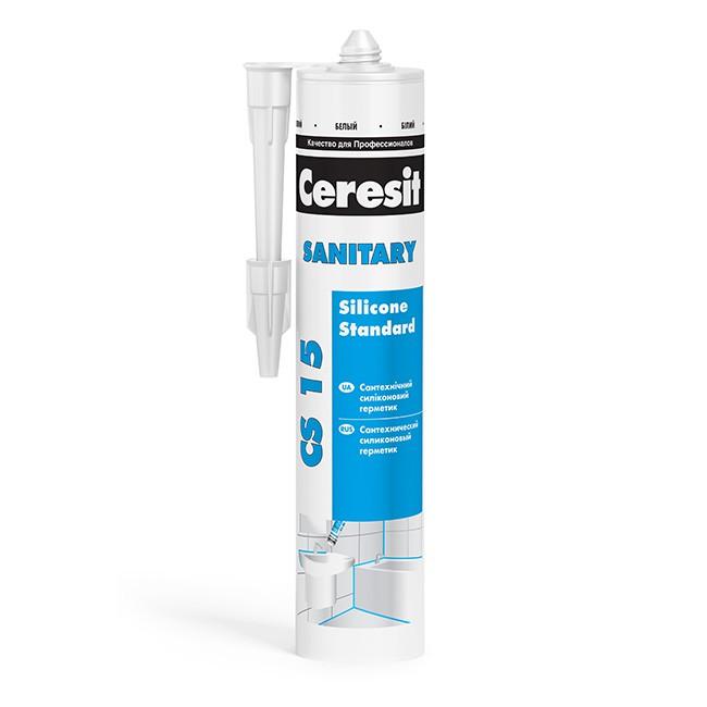 Герметик силиконовый Ceresit CS 15 санитарный белый